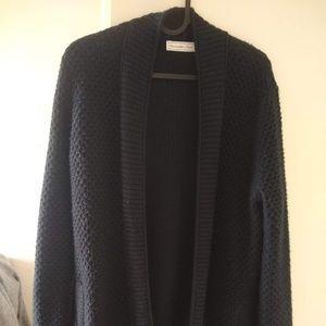 Dark knit cardigan